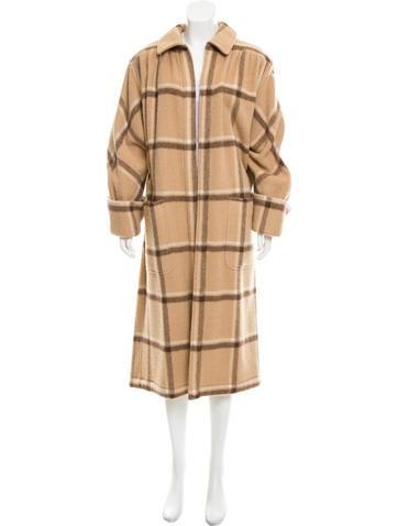 Valentino Checked Long Coat None