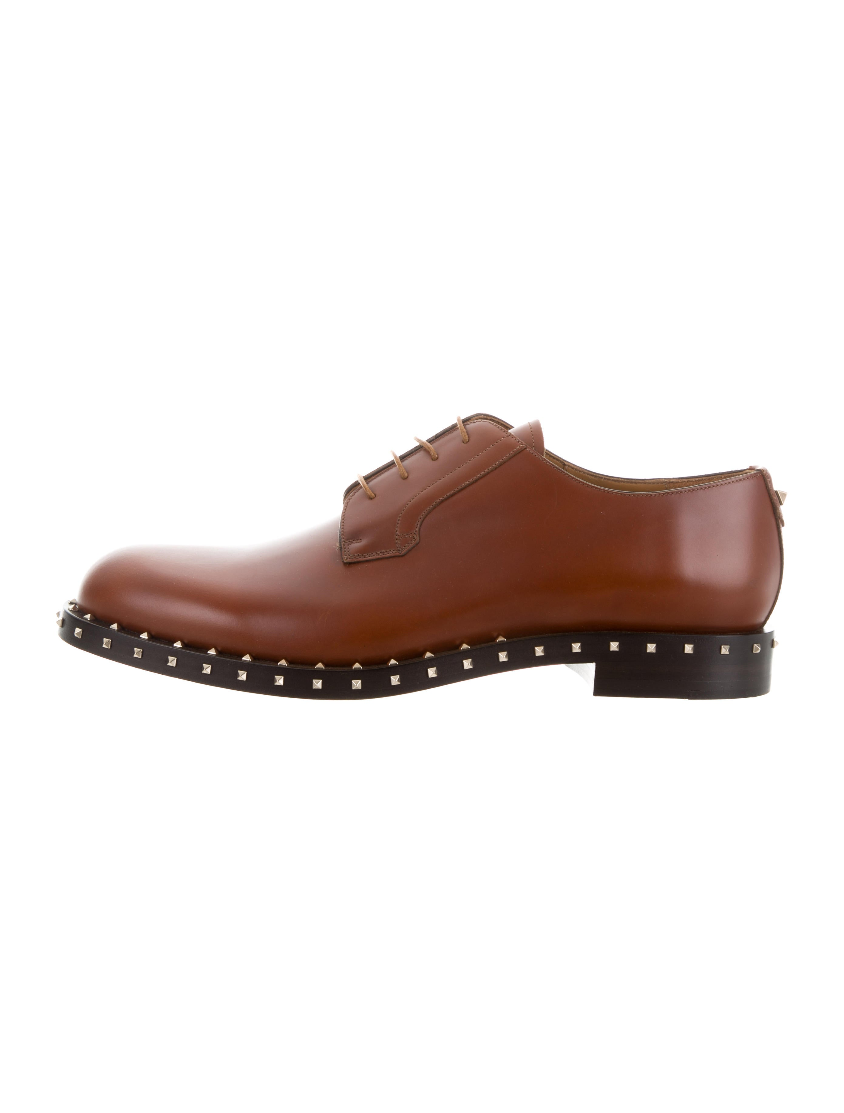 discount original Valentino Leather Embellished Oxfords discount in China outlet cheap price sale best seller 7Z8Ul