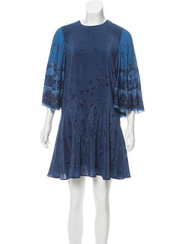 Valentino Printed Silk Dress None