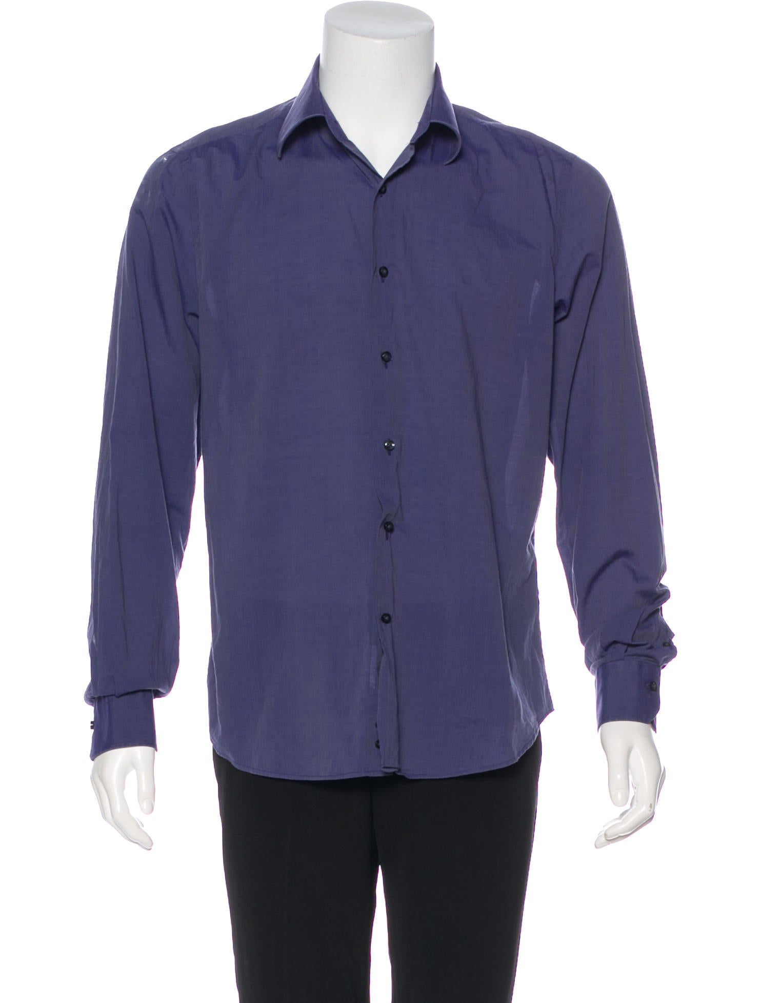 Valentino Woven Tailored Fit Dress Shirt Clothing Val82166 The