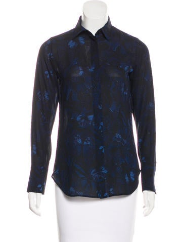 Valentino Silk Camubutterfly Top None