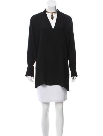 Valentino Long Sleeve Silk Tunic None