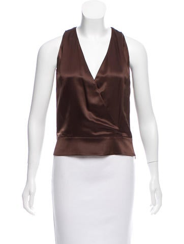 Valentino Silk Sleeveless Top None