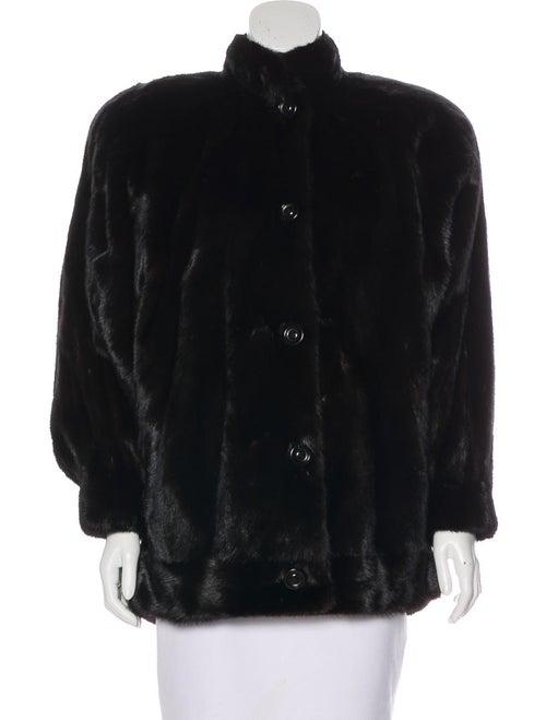 Valentino Vintage Mink Fur Coat Brown