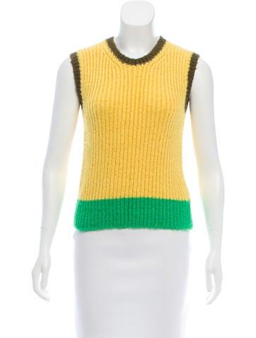 Valentino Sleeveless Silk Sweater None