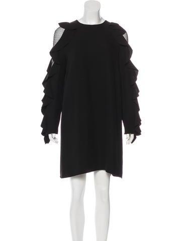 Valentino Ruffle Silk Dress None