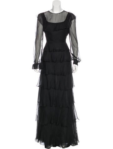 Valentino Silk Ruffled Dress None