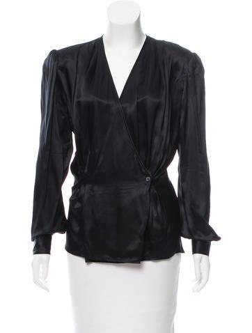 Valentino Structured Silk Top None