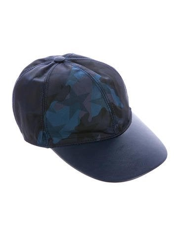 Leather-Trimmed Camouflage Hat w/ Tags