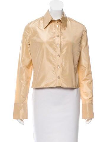 Valentino Silk Button-Up Top None