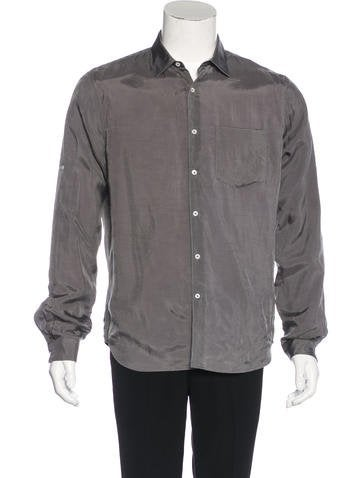 Valentino Satin Button-Up Shirt None