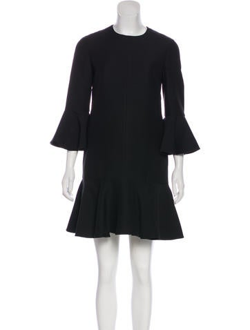 Valentino Wool & Silk Mini Dress None