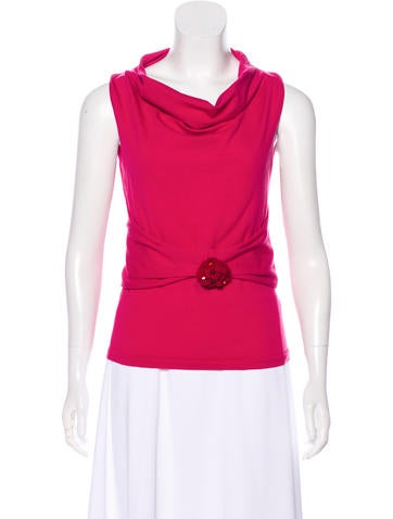 Valentino Embroidered Sleeveless Top None
