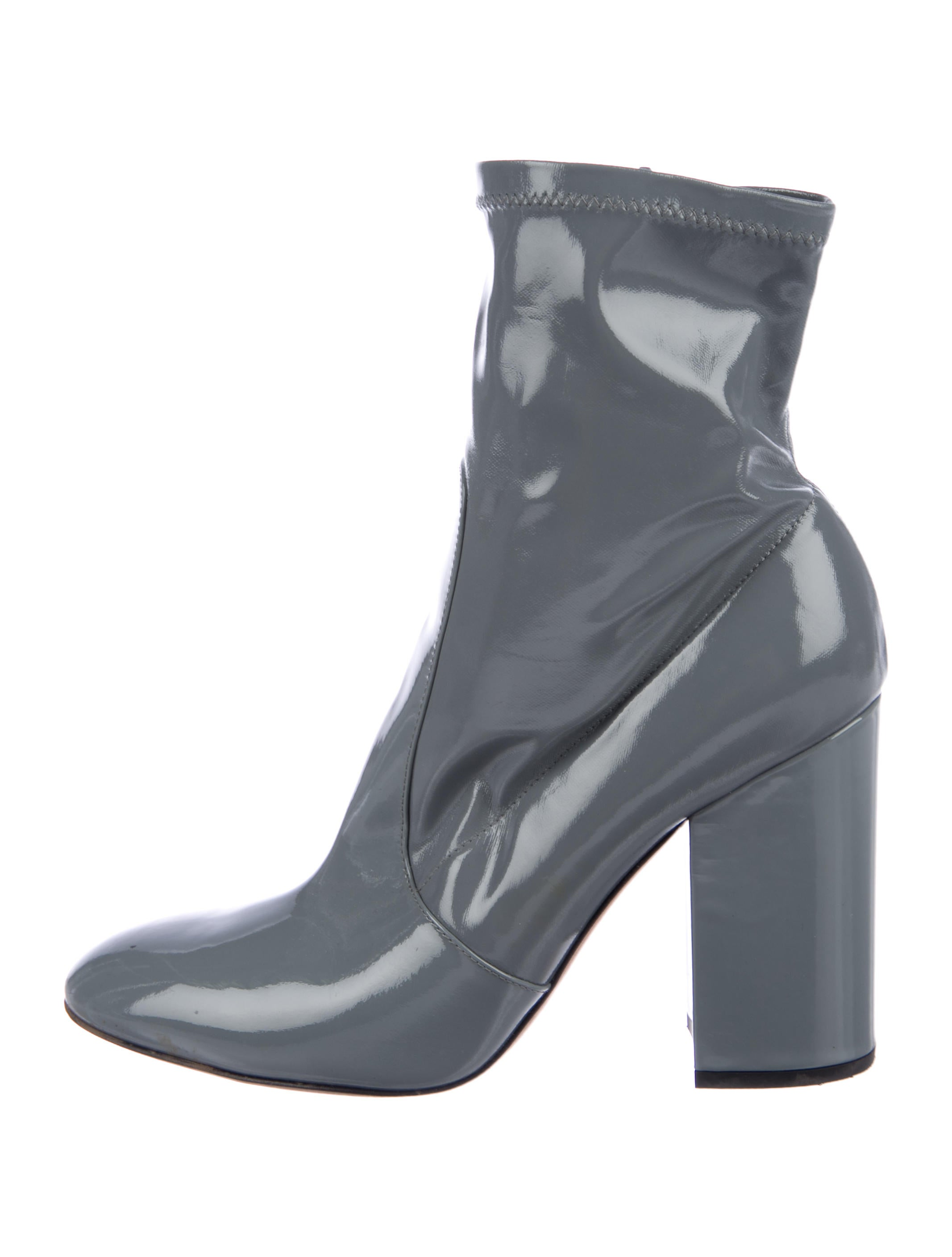 1adaa87d770 Valentino Patent Leather Ankle Boots - Shoes - VAL84915 | The RealReal