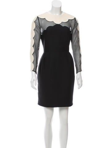 Valentino Wool & Silk Dress None