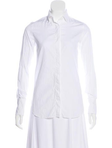 Valentino Collared Button-Up Top None
