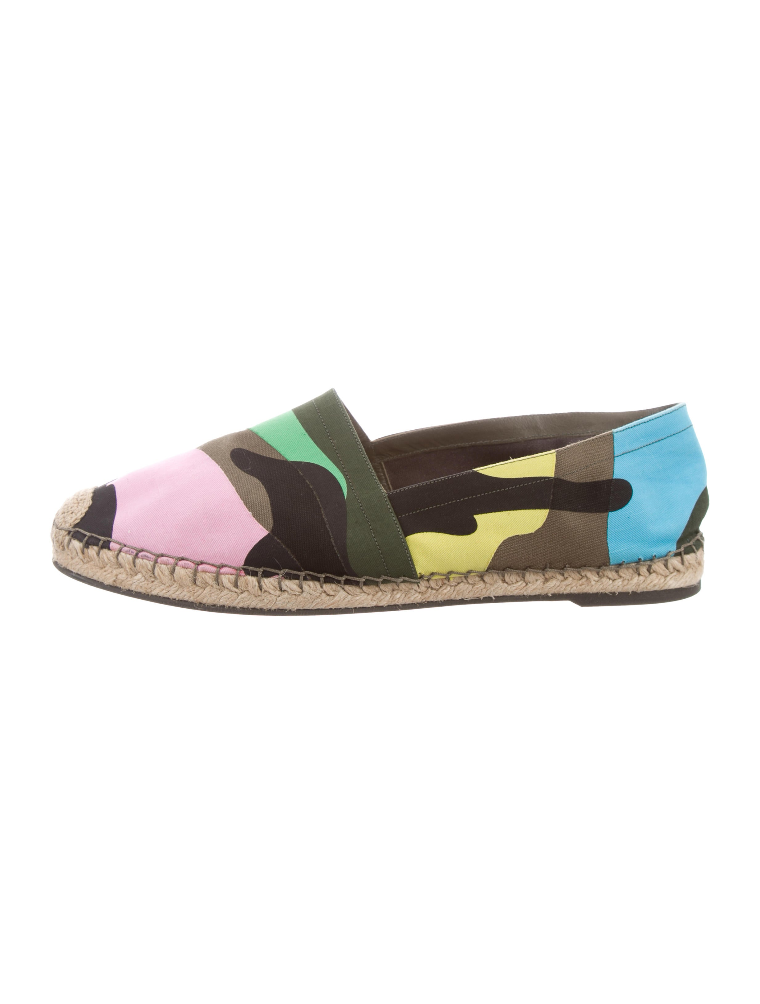 0c73e3bf1db Valentino Psychedelic Camouflage Espadrilles - Shoes - VAL85106 ...