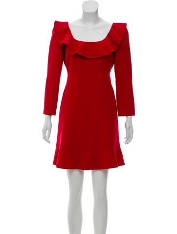 Valentino Wool & Silk Mini Dress None