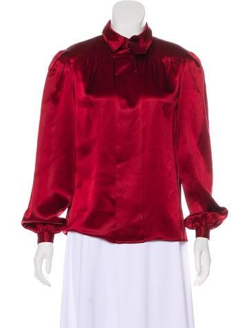 Valentino Silk Long Sleeve Top None