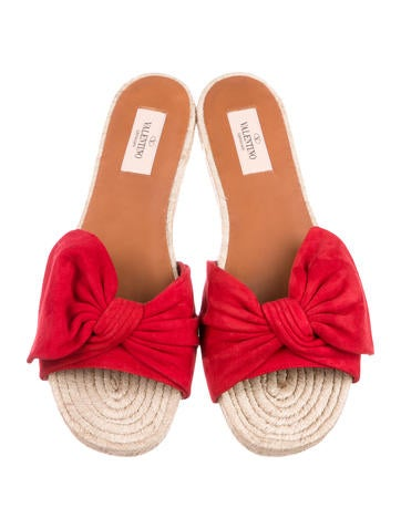 Tropical Bow Espadrilles w/ Tags