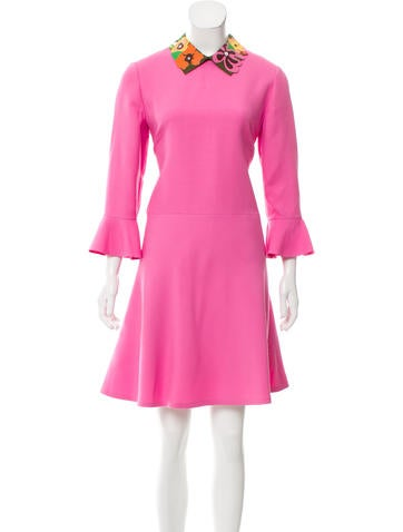 Valentino Wool & Silk Dress w/ Tags None