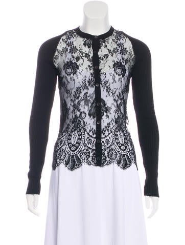 Valentino Lace Knit Cardigan None