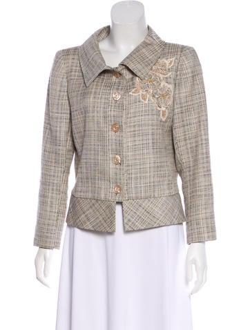 Valentino Silk & Linen-Blend Jacket None
