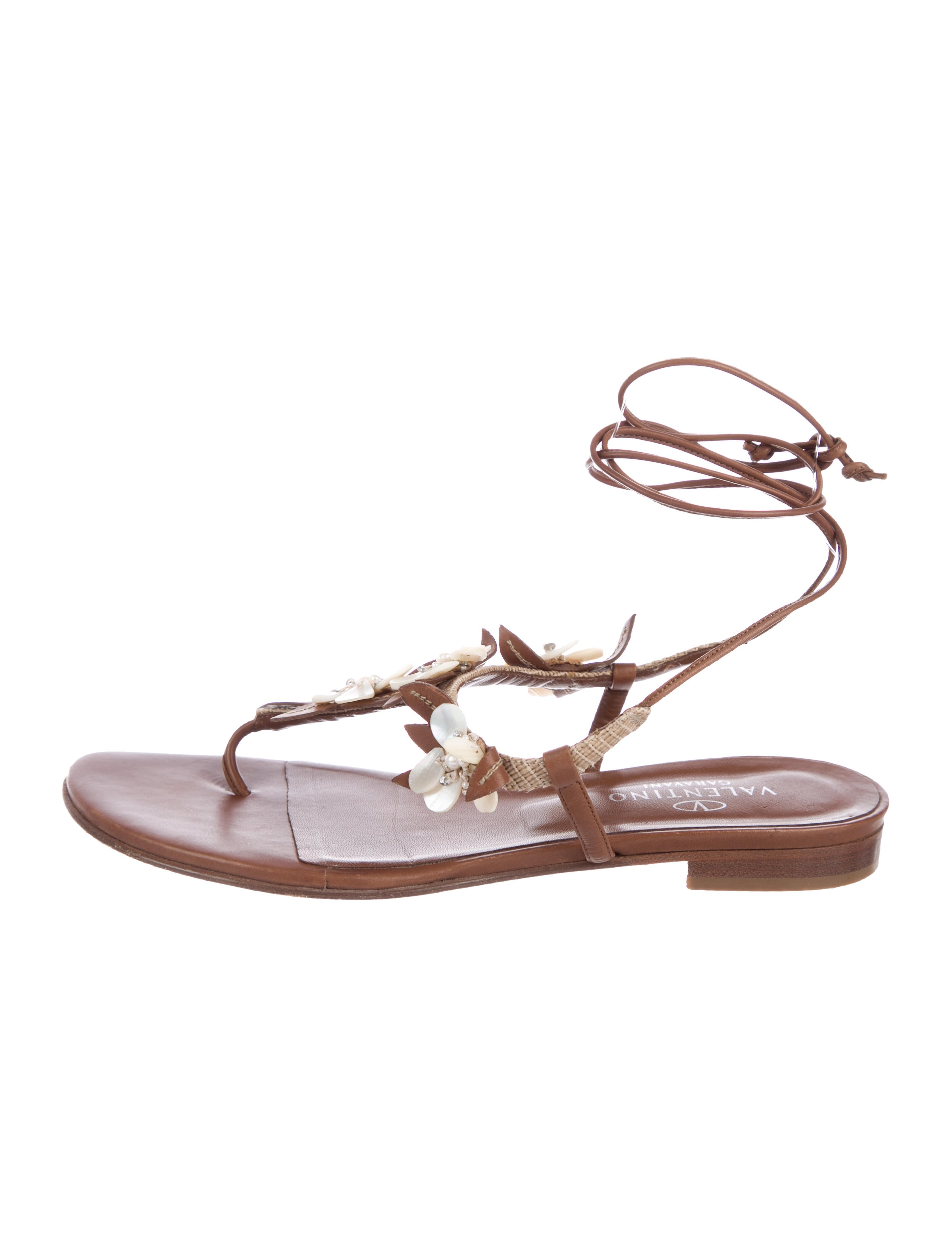 buy cheap the cheapest with paypal cheap price Valentino Floral Wrap-Around Sandals XEYBNZ