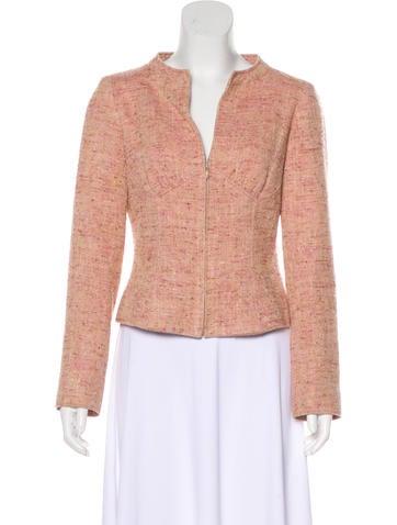 Valentino Silk & Wool-Blend Jacket None
