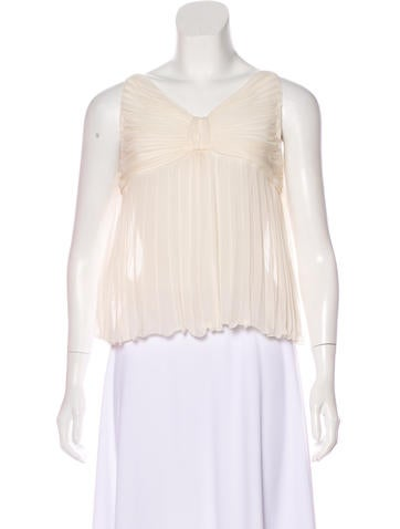 Valentino Sleeveless Pleated Top w/ Tags None