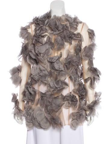 Valentino Appliqué Silk Top w/ Tags None