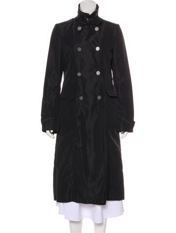 Valentino Double-Breasted Long Coat None