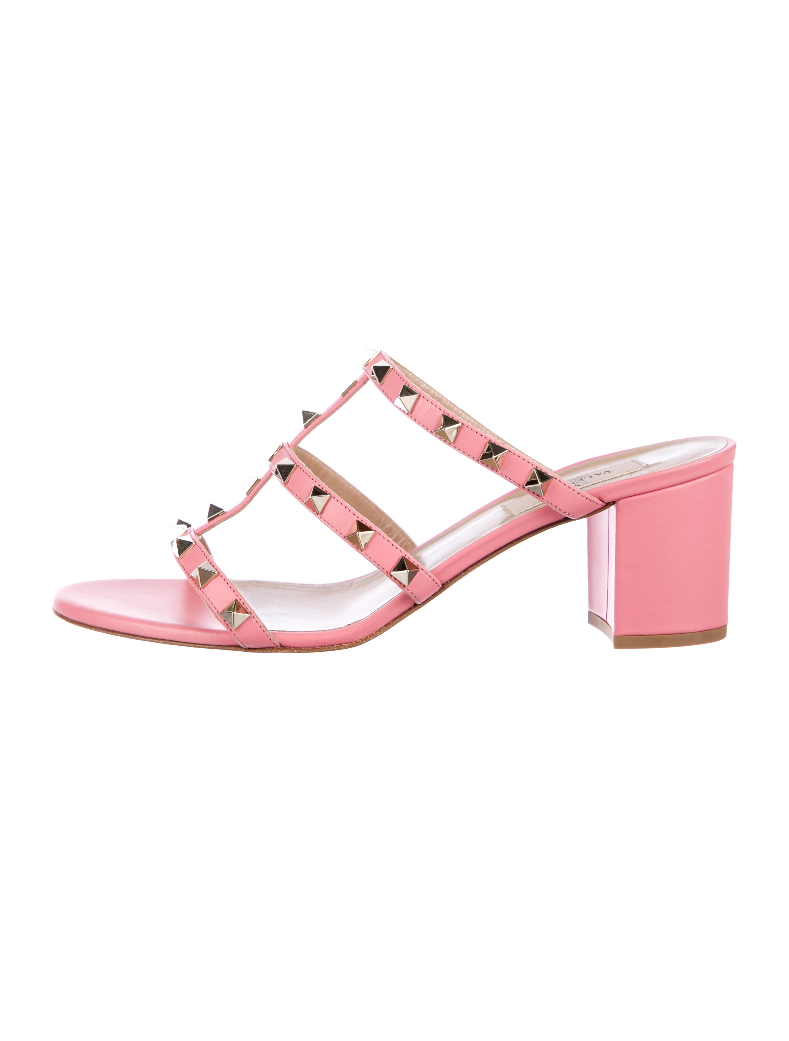 Valentino Rockstud Leather Sandals w/ Tags clearance Inexpensive excellent sale online 1AJz3ZMbB0