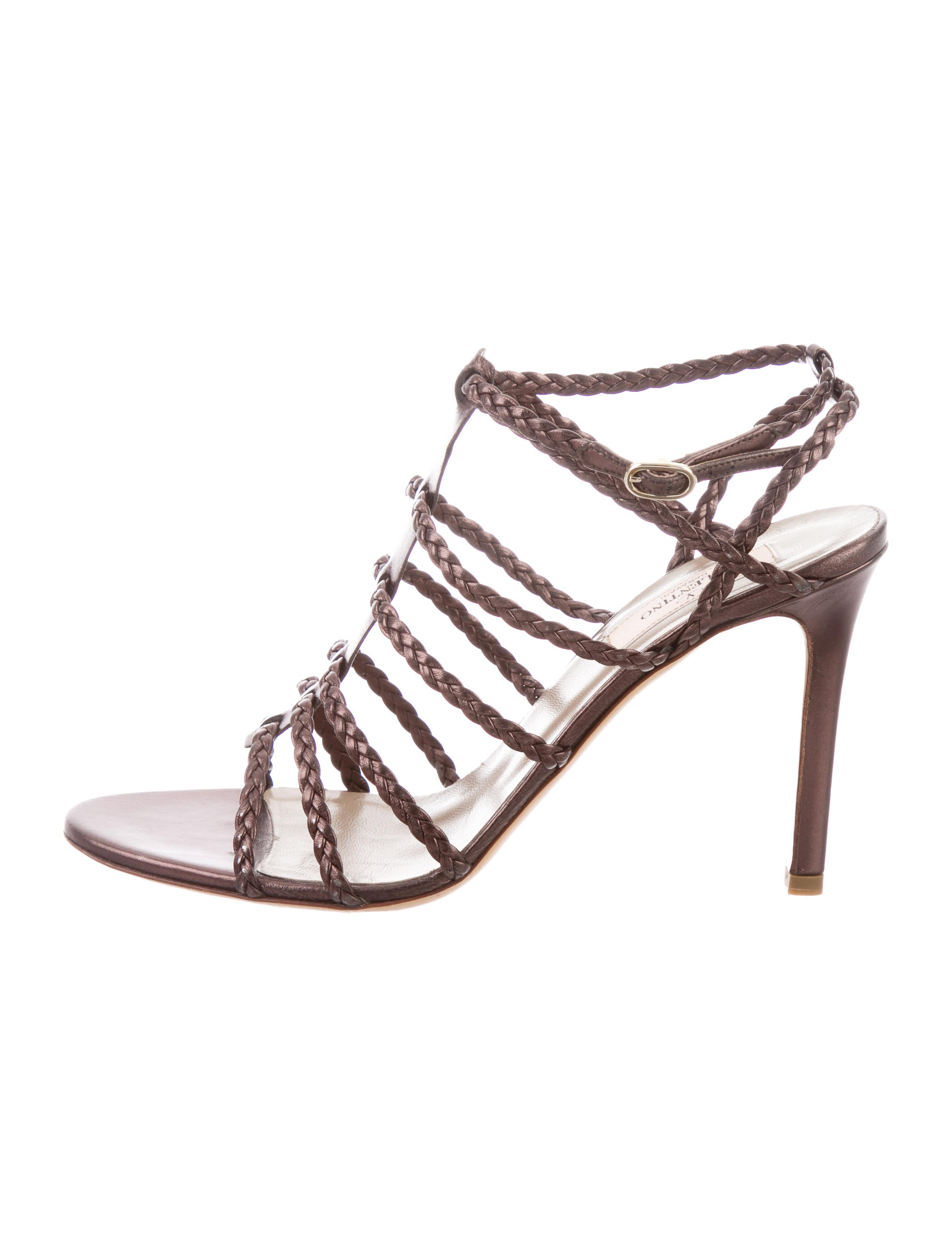 newest sale online Valentino Braided Cage Sandals discount shop for ZjuHurxU1