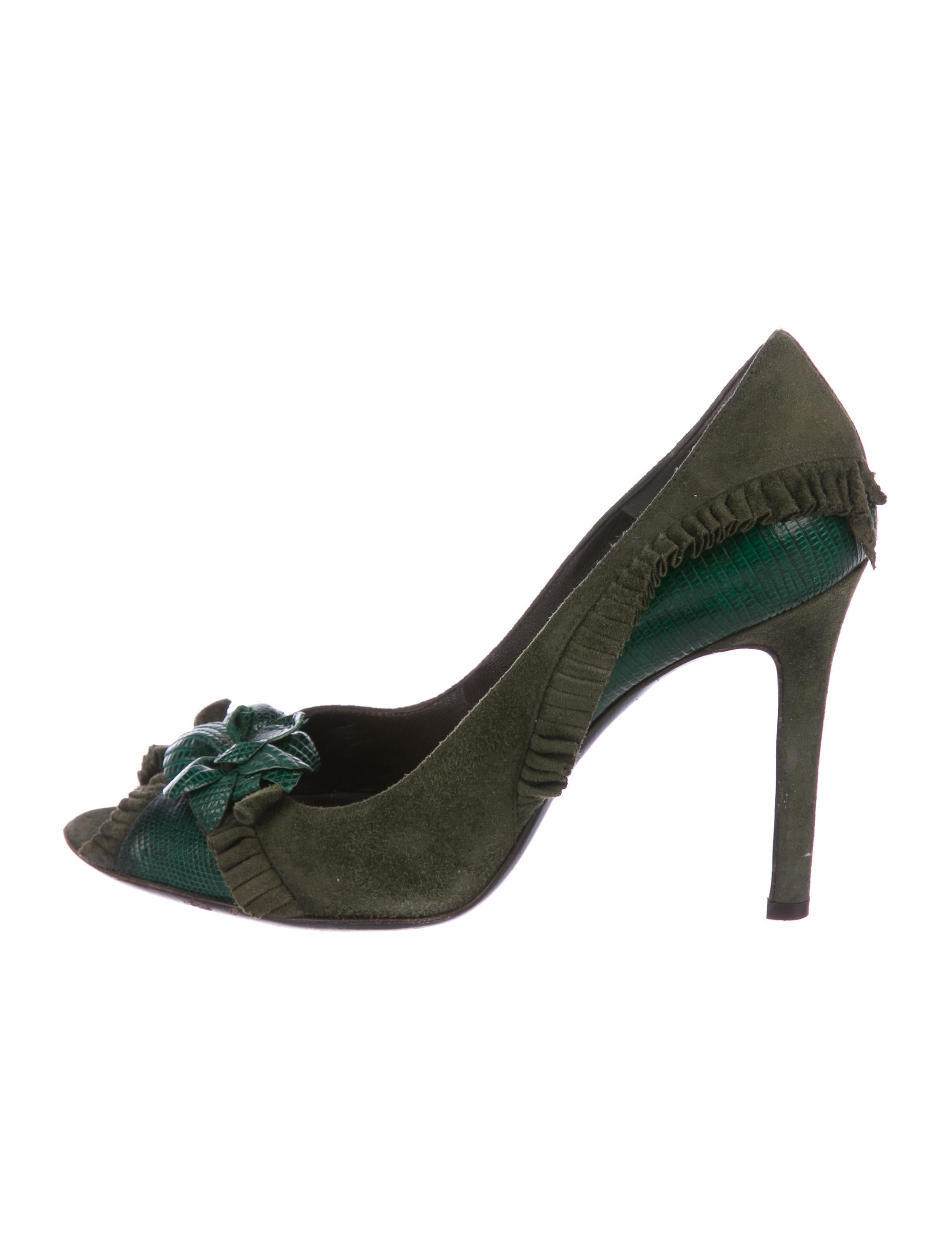 Red pre order eastbay Valentino Lizard-Trimmed Embellished Pumps buy cheap latest collections best prices cheap online M9h91OJlp