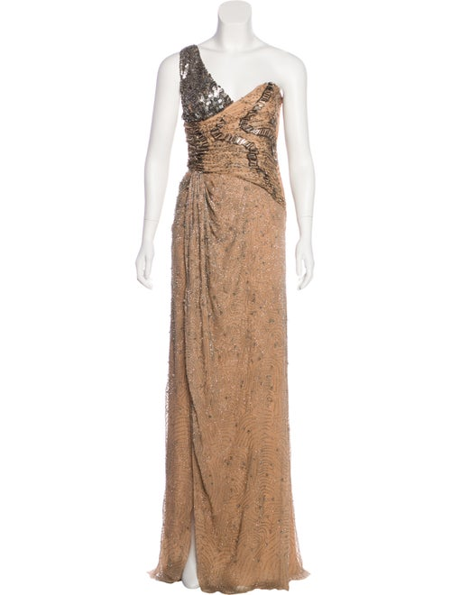 Valentino Silk Embellished Gown w/ Tags Pink