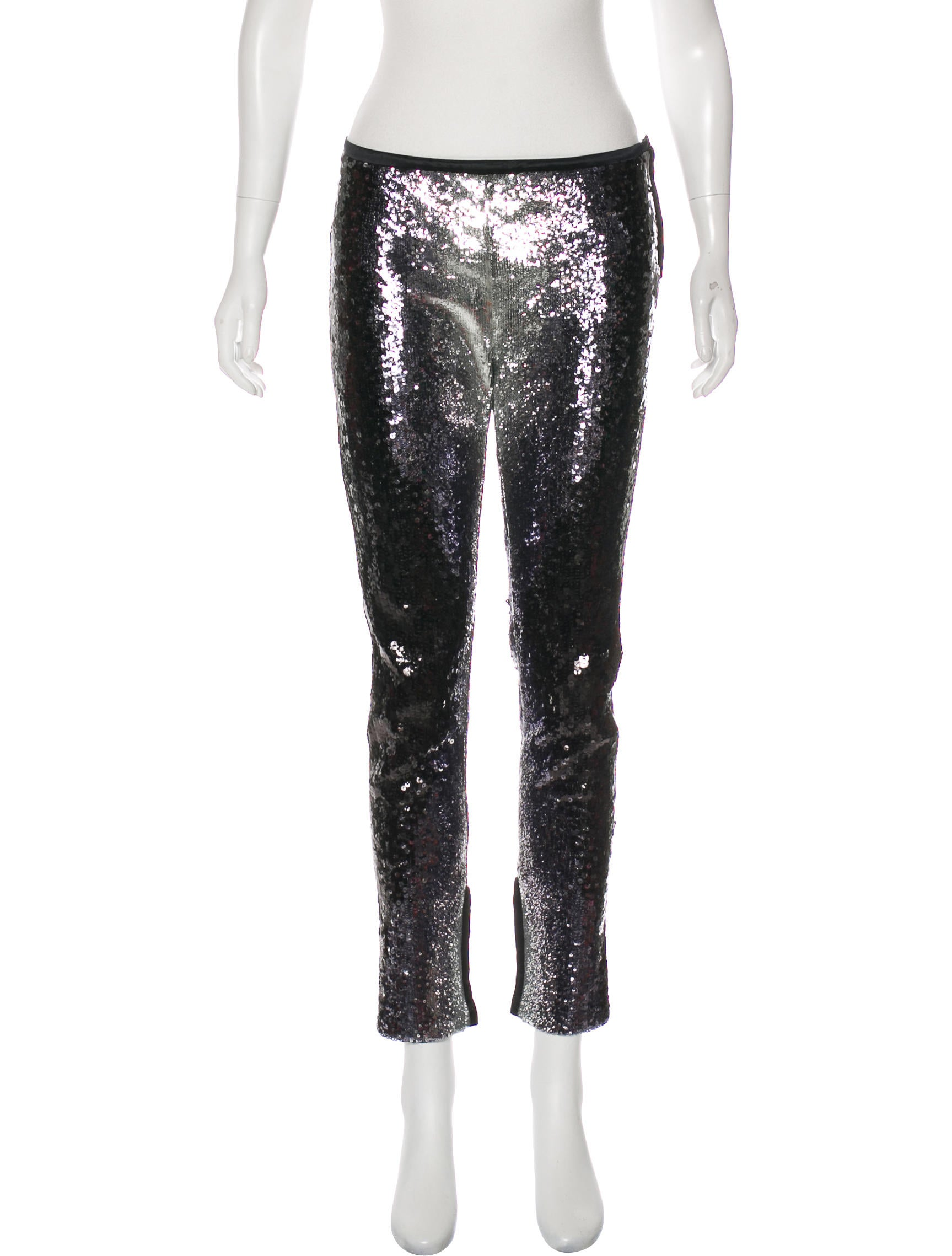 Embellished Straight Leg Pants by Valentino