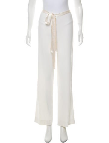 Valentino Mid Rise Wide Leg Pants by Valentino