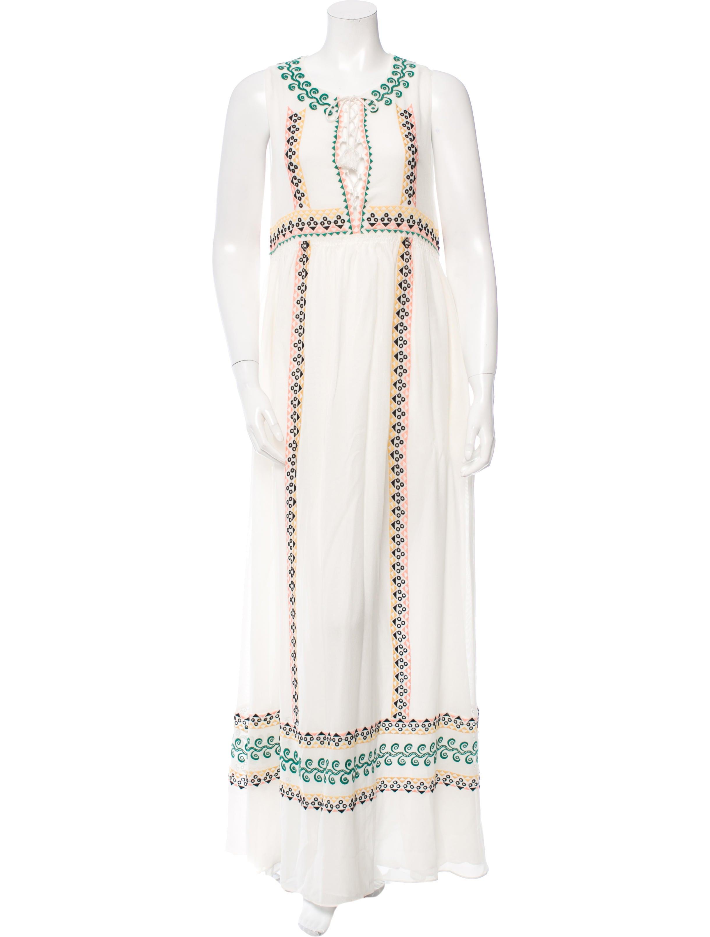 Vanessa bruno embroidered sleeveless maxi dress w tags