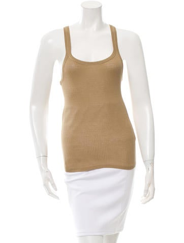 Vanessa Bruno Rib Knit Tank Top None