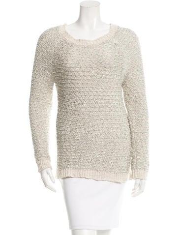 Vanessa Bruno Metallic Scoop Neck Sweater None