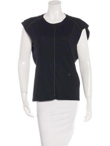 Vanessa Bruno Virgin Wool Short Sleeve Top w/ Tags None