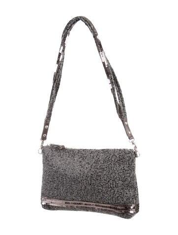 Sequin & Wool Shoulder Bag
