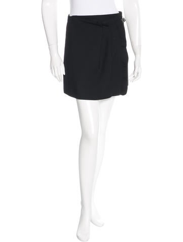 Vanessa Bruno Wool Mini Skirt None