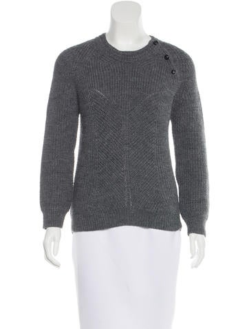 Vanessa Bruno Long Sleeve Rib Knit Sweater None