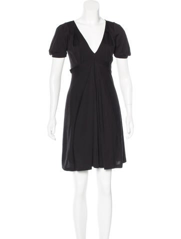 Vanessa Bruno Short Sleeve Wool Dress None