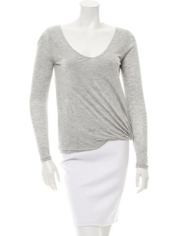 Vanessa Bruno Knit V-Neck Top None