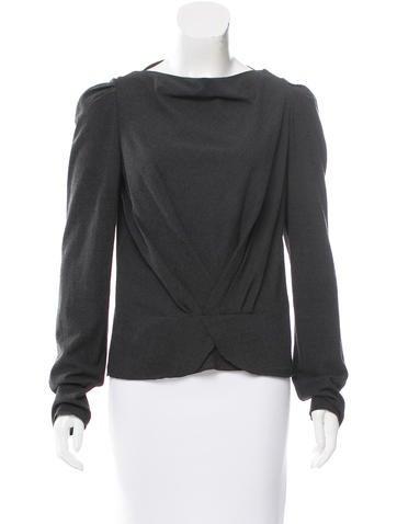 Vanessa Bruno Long Sleeve Wool Top None