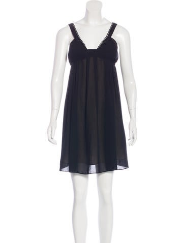 Vanessa Bruno Lace-Trimmed Knee-Length Dress None