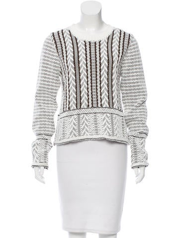 Vanessa Bruno Patterned Knit Sweater w/ Tags None
